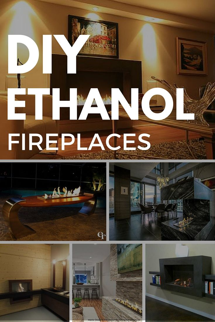 Ethanol fireplace and Living rooms