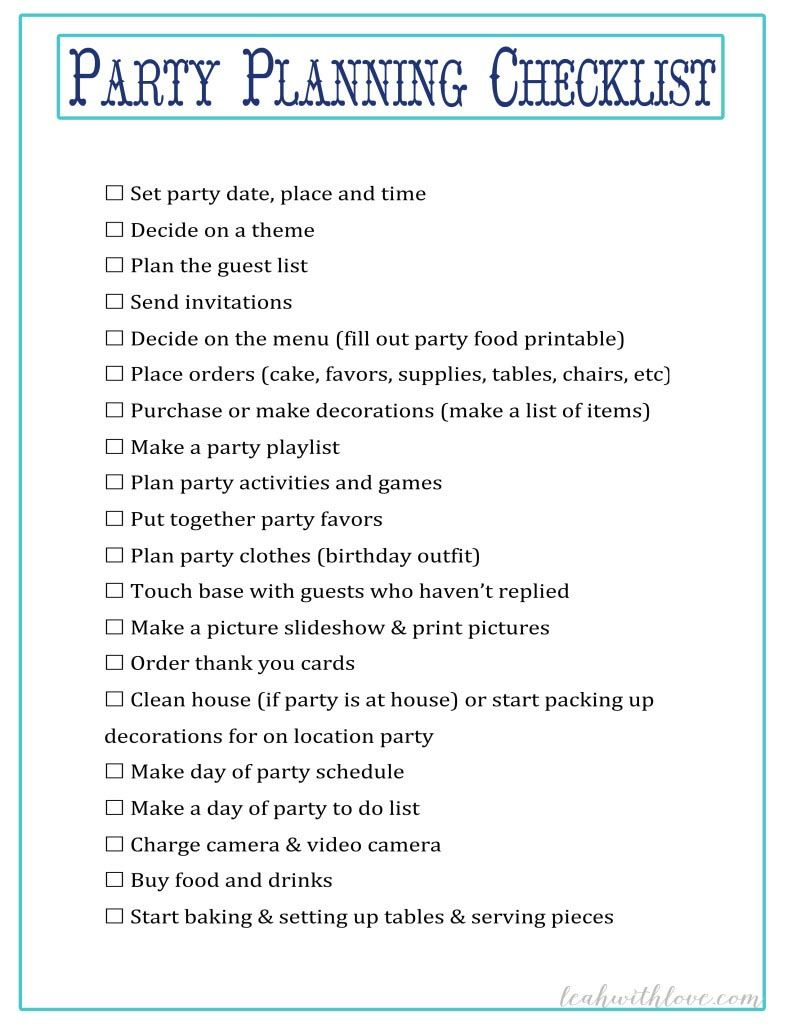 Sweet 16 Party Planning Checklist #sweet16birthdayparty
