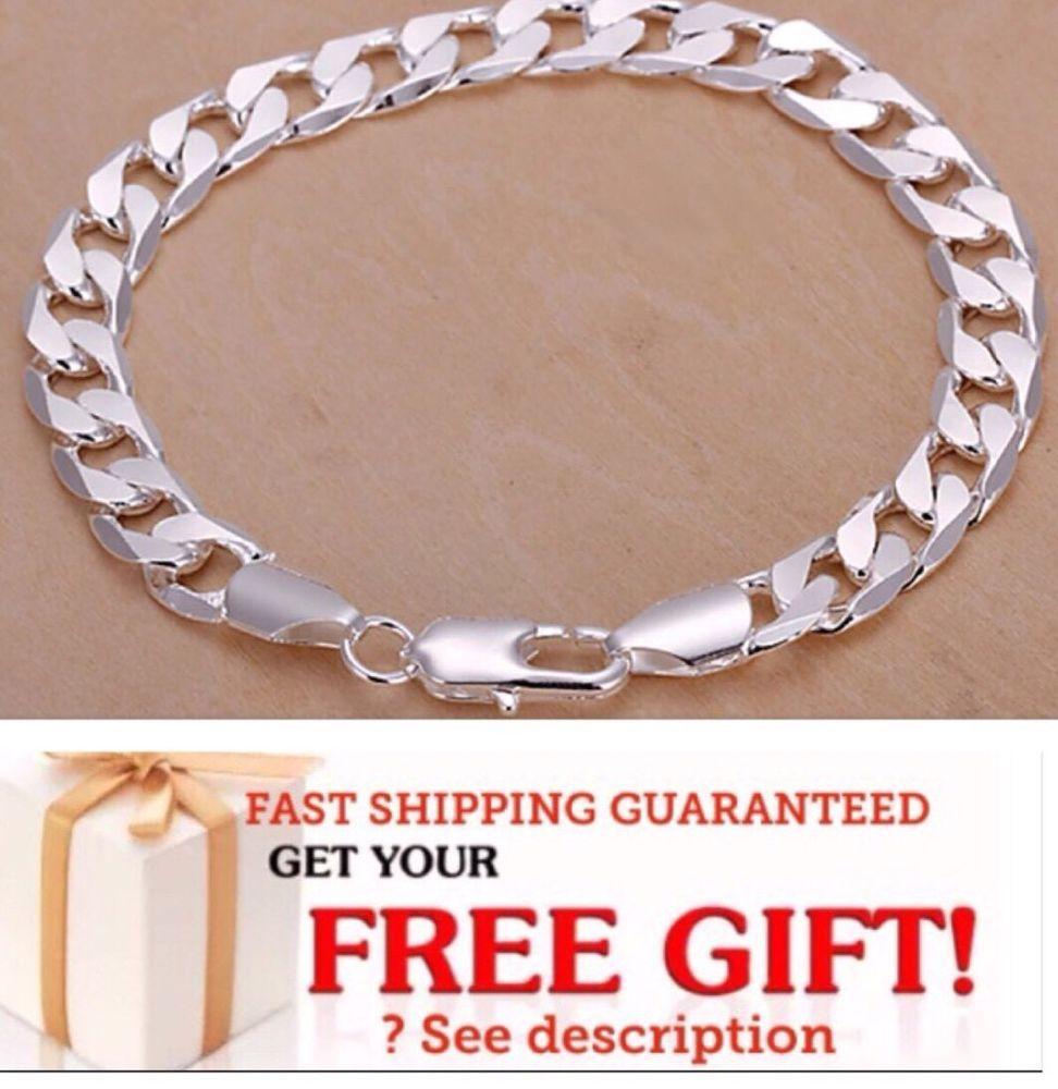 sterling silver bracelet men women chain bracelet bangle