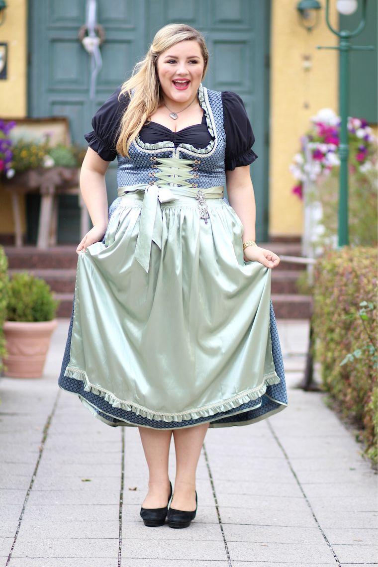 Plus Size Dirndl grün | Dirndl, Modestil, Traditionelle ...