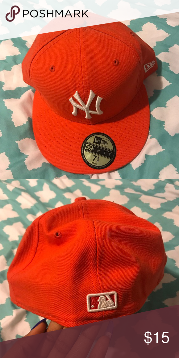 9def2d68 orange new york yankee fitted hat - new era never worn orange white ...