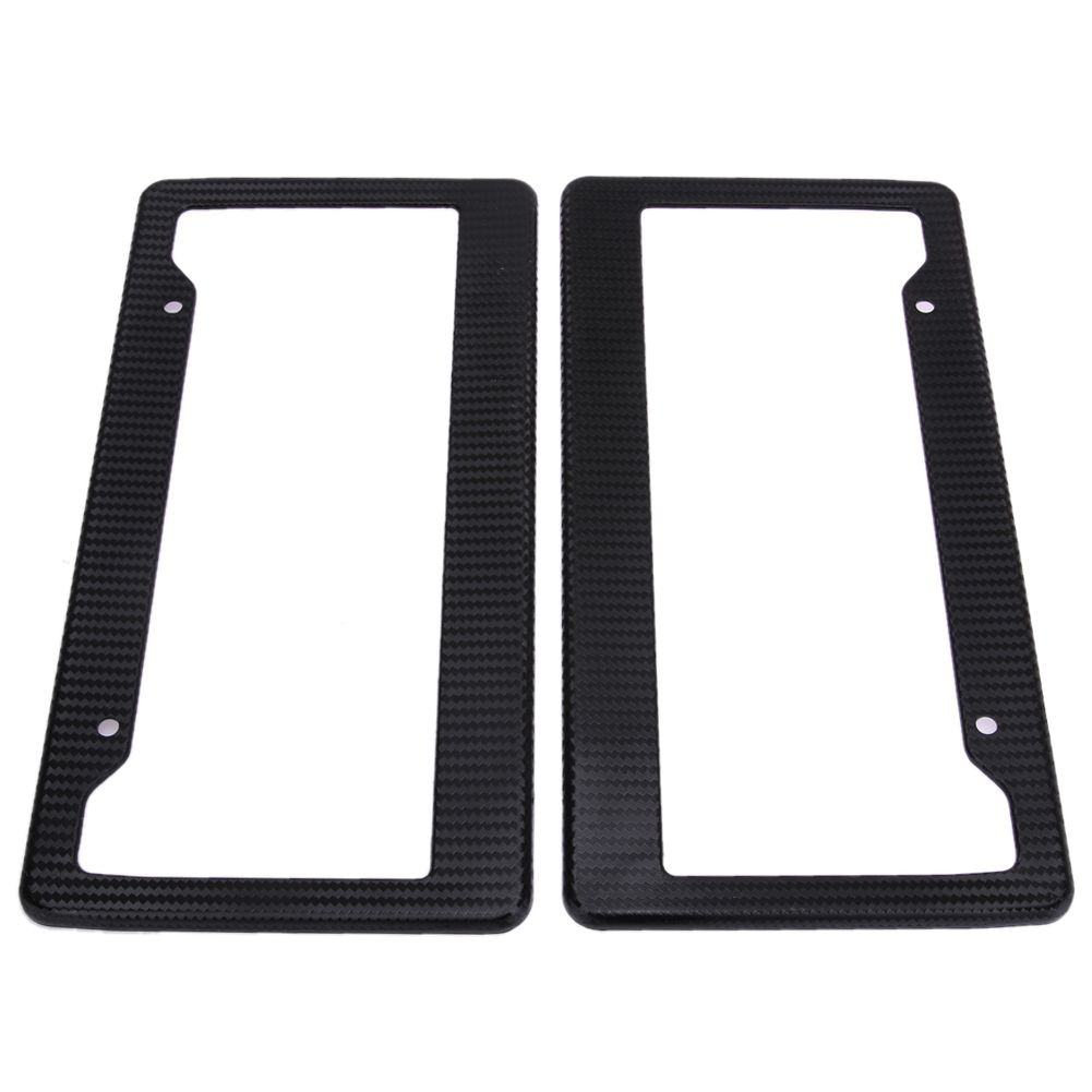 2Pcs Carbon Fiber Pattern Car License Plate Frames Car-styling ...