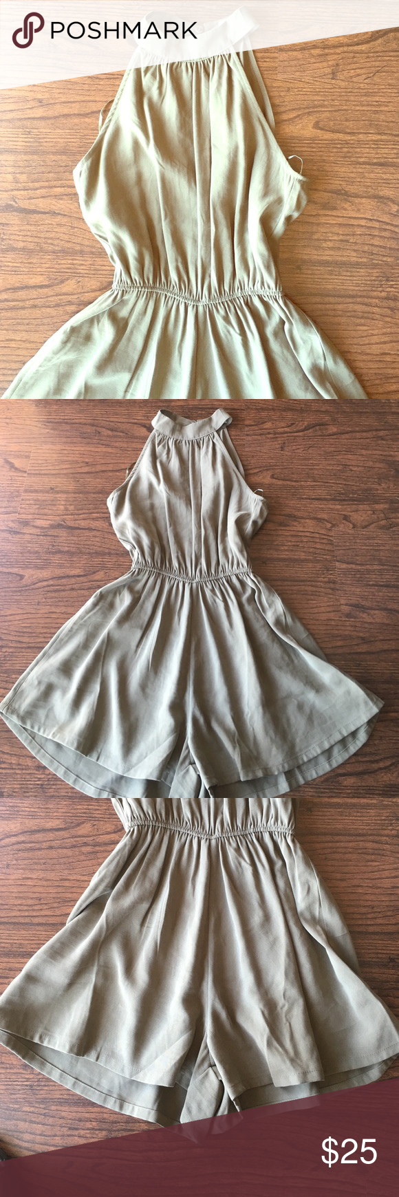b0479aa8b398 Sienna Sky Romper Sienna Sky Romper. Olive green. Keyhole back with a small  rip. Very easy and cheap to fix. Like new condition. ❌NO TRADES❌ ⭐️Send me  ...