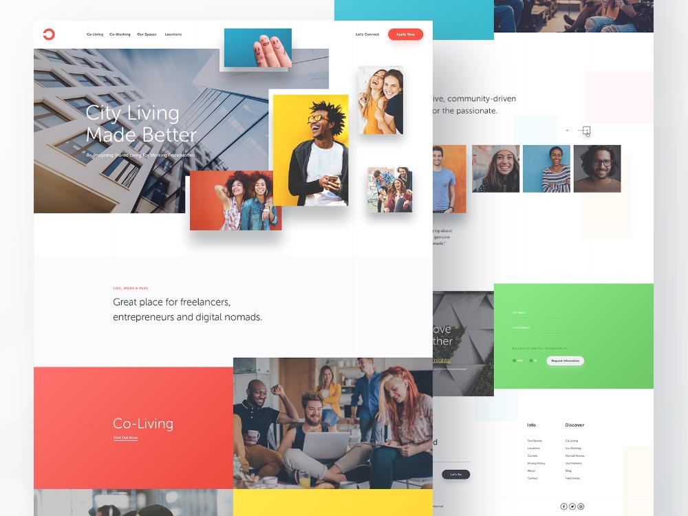 Co Living Homepage In 2020 Homepage Design Web Design Website Design