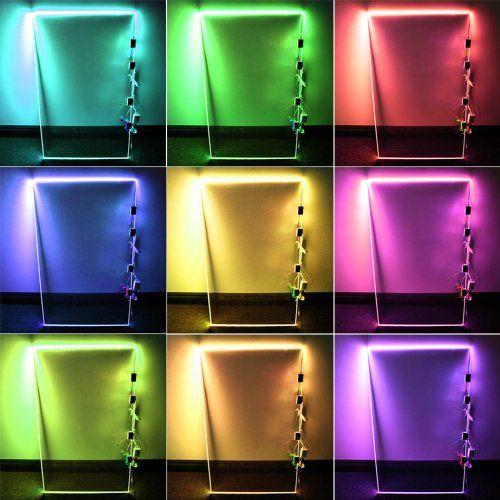 Rgb Led Gl Edge Lighting Kit 4pcs Shelf Lights Controller