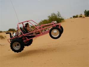 Drive a dune buggy