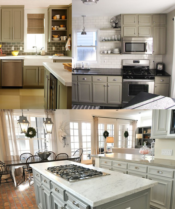 Rockport Gray Kitchen: Painting Those Cabinets... Look At BM Revere Pewter