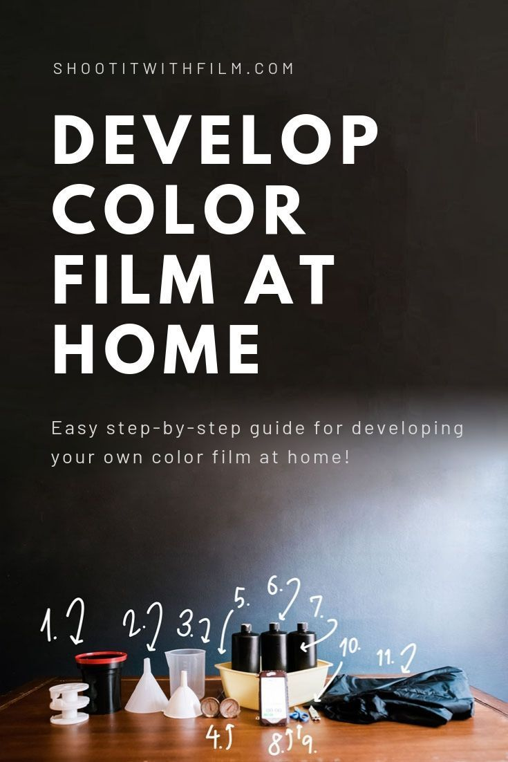 How to Develop Color C-41 Film at Home! » Learn how to shoot film with these film photography tips and tutorials on Shoot It With Film #shootitwithfilm #filmisnotdead #ishootfilm #35mmfilm #35mm #35mmfilmphotography #mediumformat #filmphotography #kodak #kodakfilm