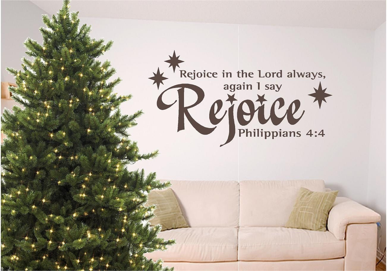 Christmas bible verse wall art, Rejoice | Something different ...