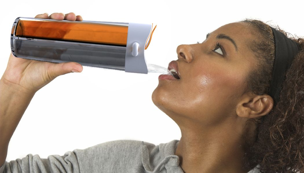 HydraDuo - a water bottle that holds two beverages