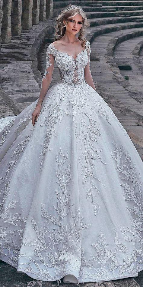 30 Ball Gown Wedding Dresses Fit For A Queen | Wedding dress, Ball ...