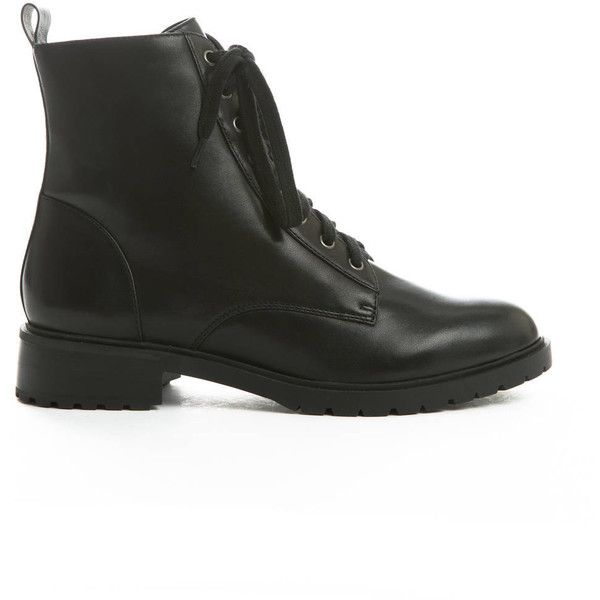b38fc97eb90 Steve Madden Officer Combat Boots ( 100) ❤ liked on Polyvore featuring  shoes