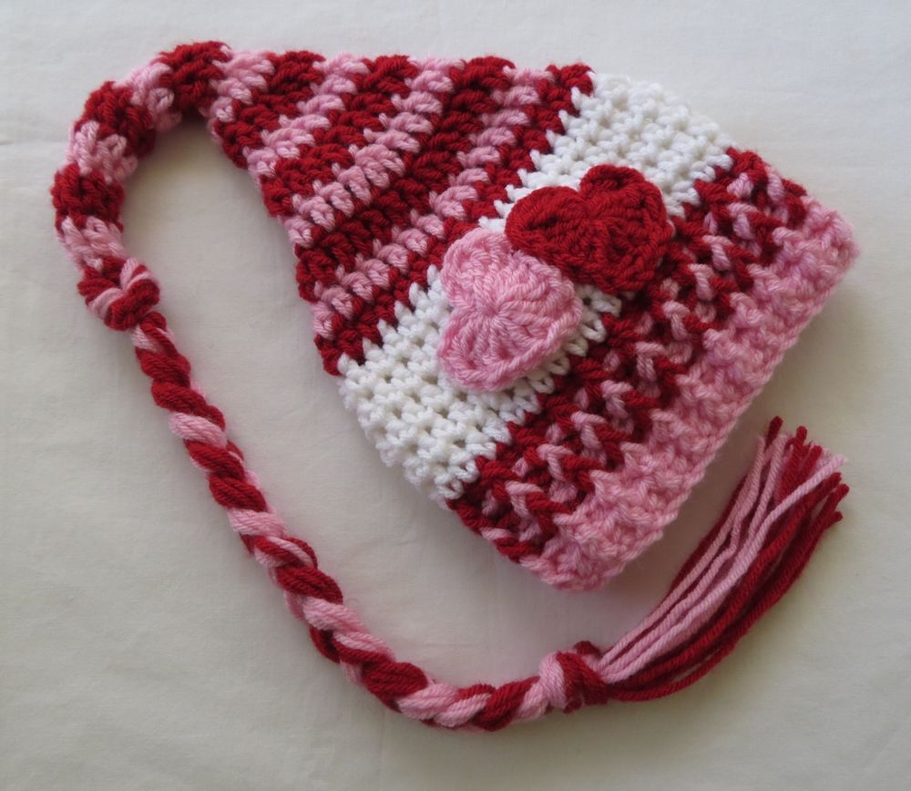 Details about Crochet Valentine's Day Hat, Photo Props, Baby ...