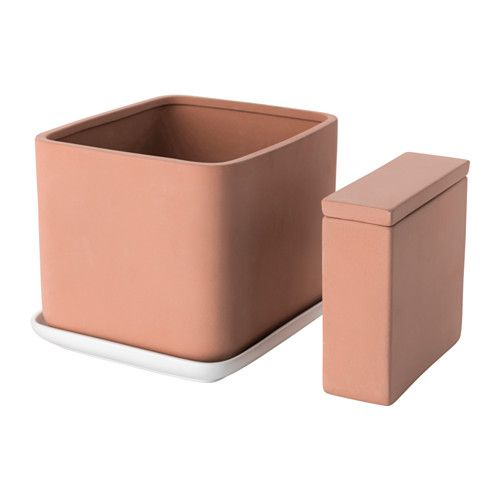 ANVÄNDBAR 4-piece self-watering plant pot set IKEA Will help your plants  thrive ade290a825104