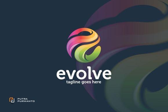 Evolve Letter E Logo Template Logo Templates Logo Design