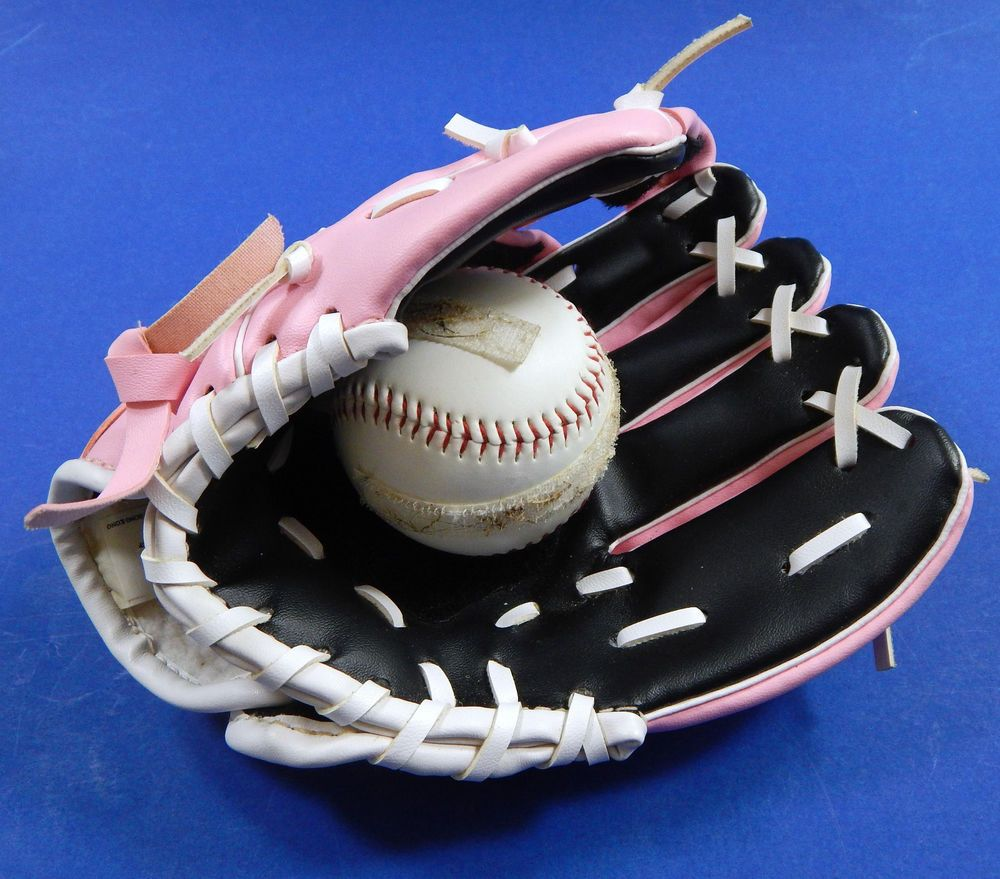 Baseball T Ball Glove Ball Easy Catch W Velcro Girls Youth Pink Black Rht 8 Gifts For Kids Baseball Glove Pink