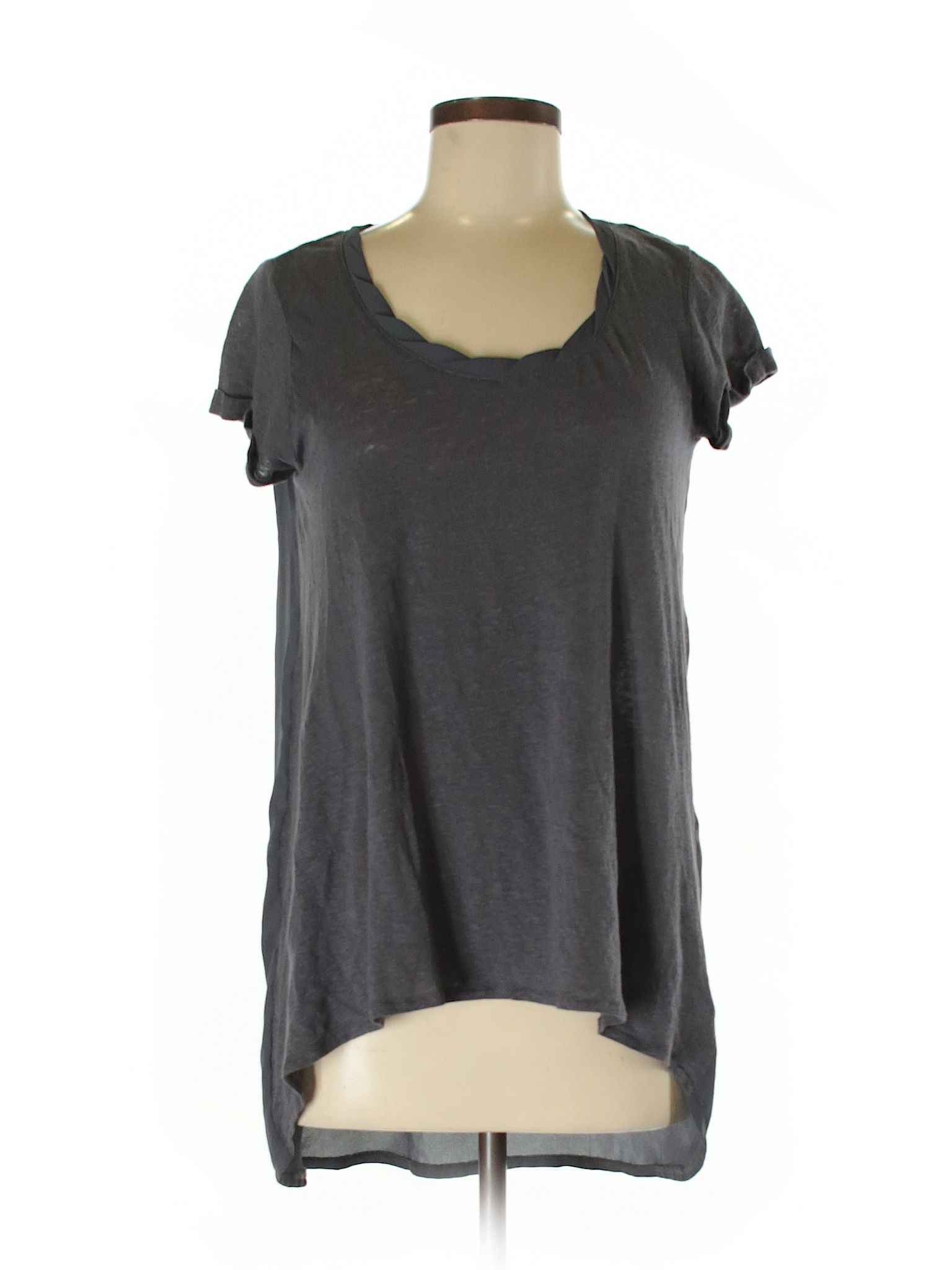 c734611c8e3 Cynthia Rowley for T.J. Maxx Short Sleeve Blouse  Gray Women s Tops -  27129773