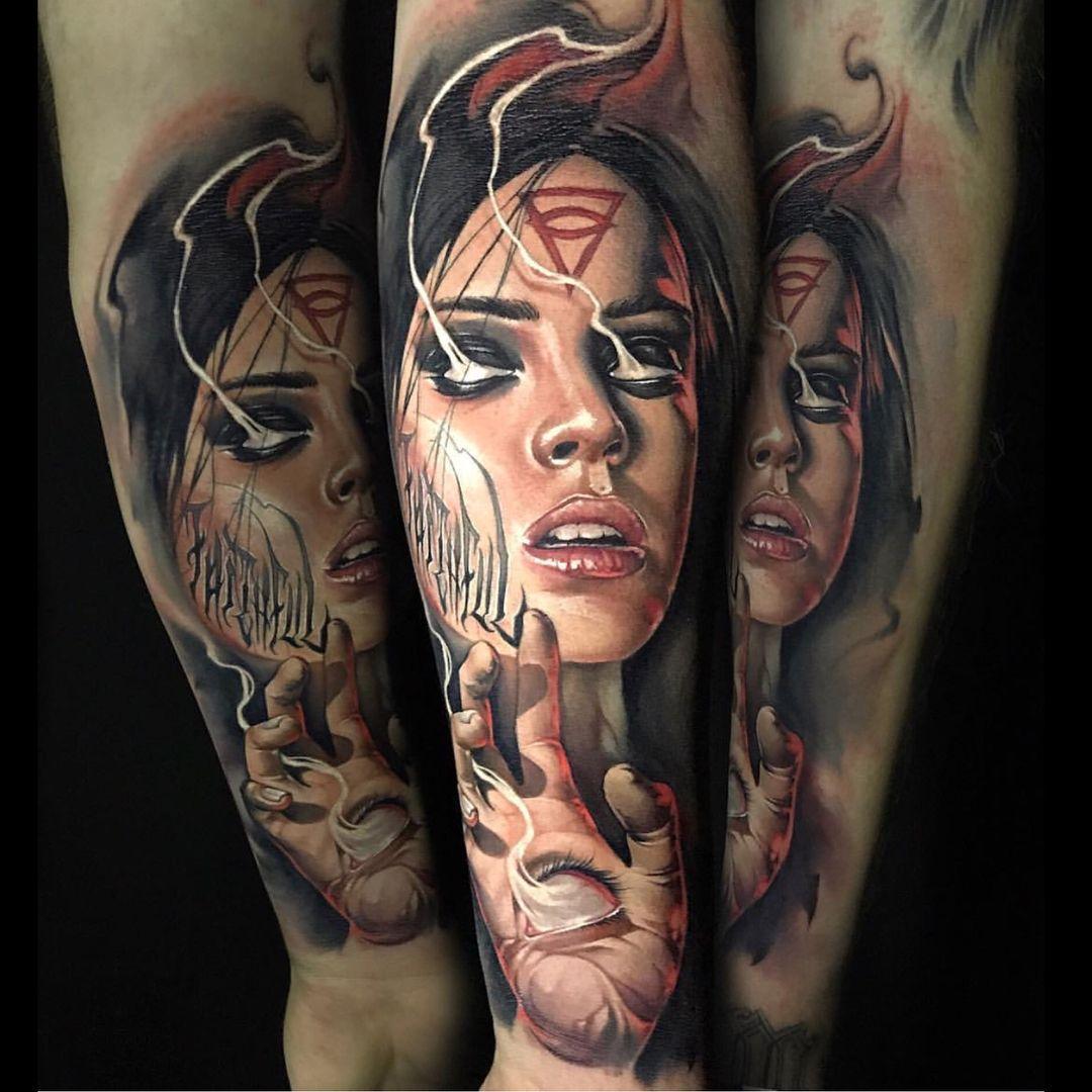 Color tattoo artwork artist ig benjaminlaukis