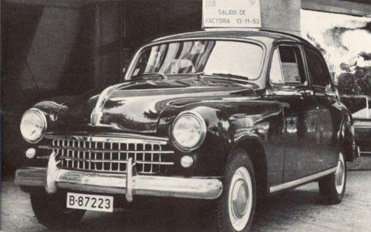 'SEAT 1400, Barcelona 1953. Primer coche fabricado por la marca' (nana para profesores)