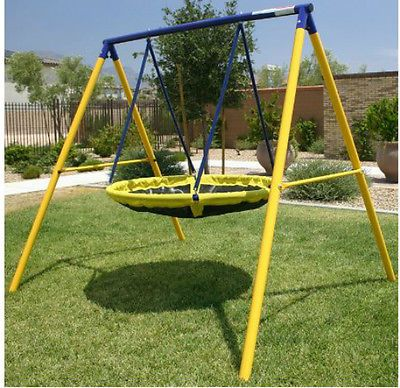 Backyard Swing Set Flying Saucer Ufo Kids Playground Metal Playset
