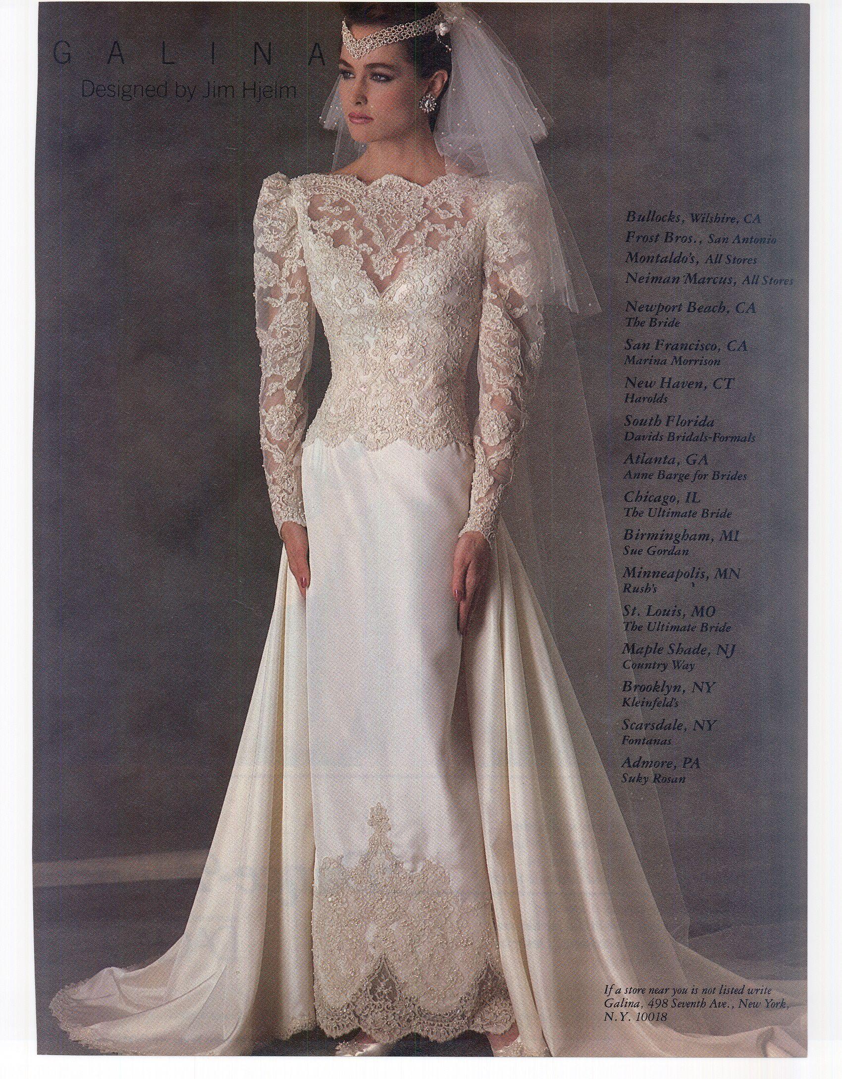 Modern Bride April May 1986 Wedding dresses,