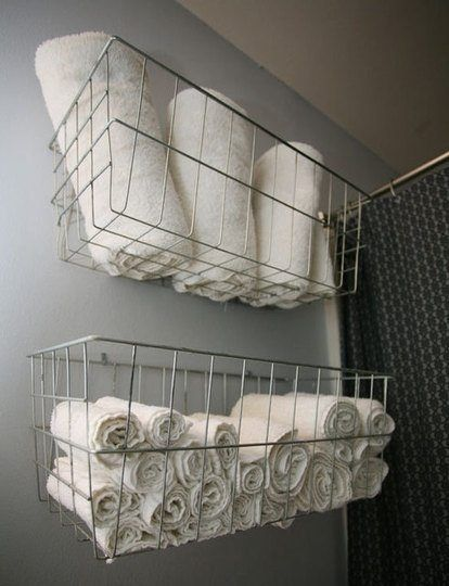 Wall Mounted Basket Linen Rack Bathroom Storage Ideas Highly Innovative And Functional Various Designs Of Wall Mounted Linen Racks A Home Home Diy Gym Decor