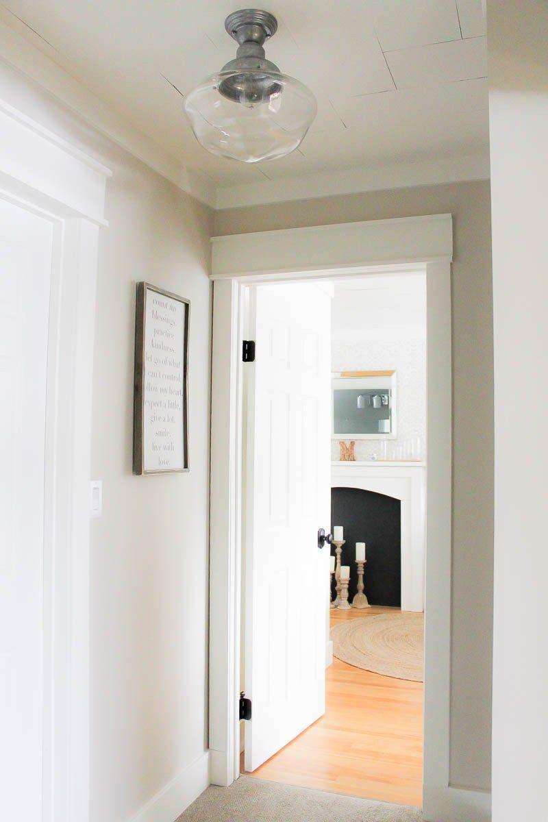 A Farmhouse Style Hallway Makeover Farmhouse Light Fixtures