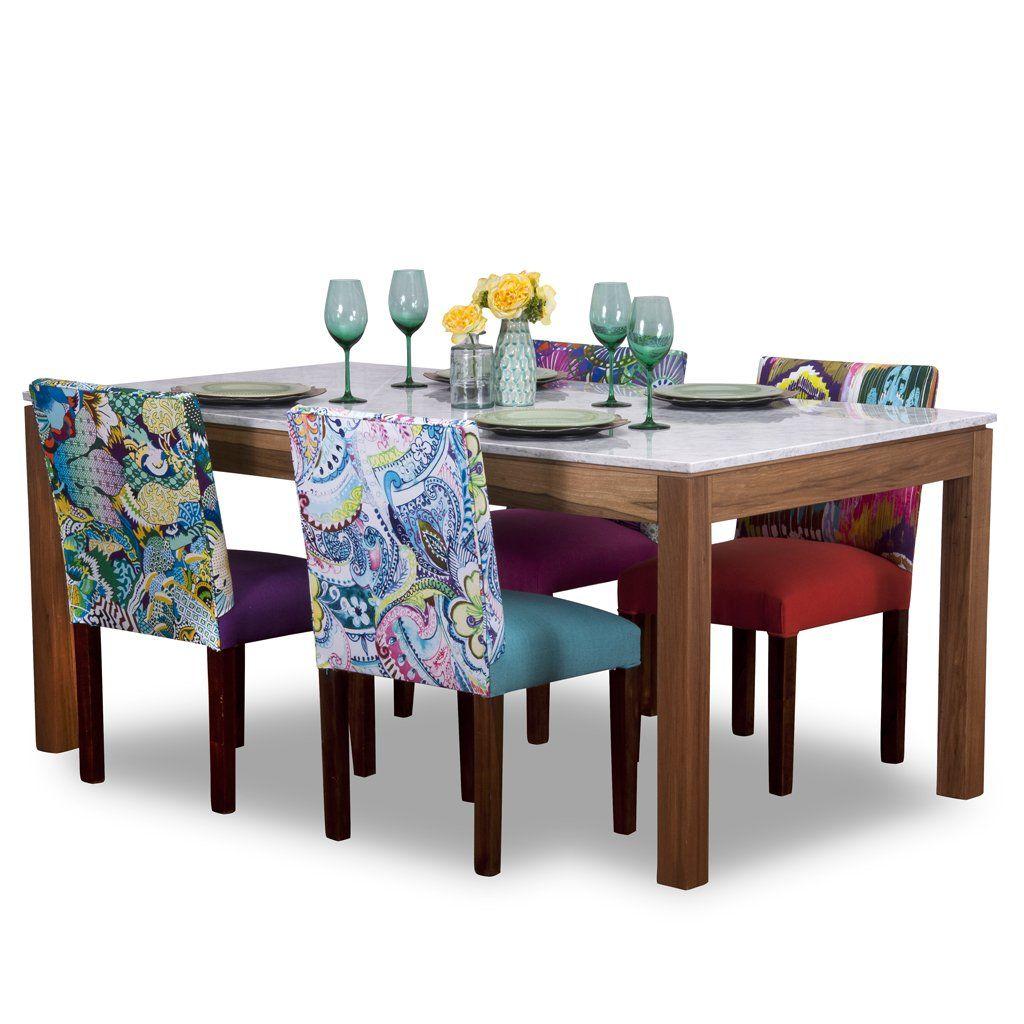Juego comedor p 6 personas mesa m rmol carrara 6 sillas for Juego mesa cocina