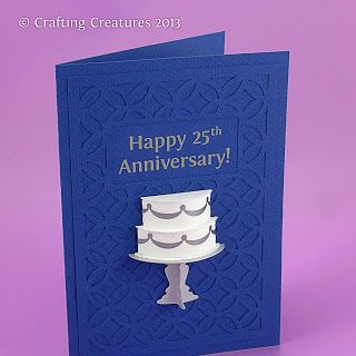3D cake card for anniversary