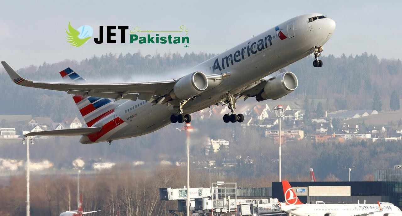 American Airlines Jet Pakistan American airlines