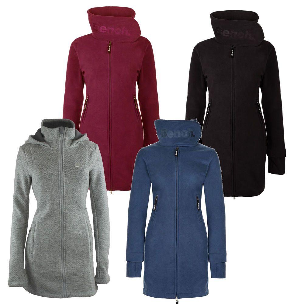Bench Long Funnel Neck Loris Cardigan Women's Fleece Jacket