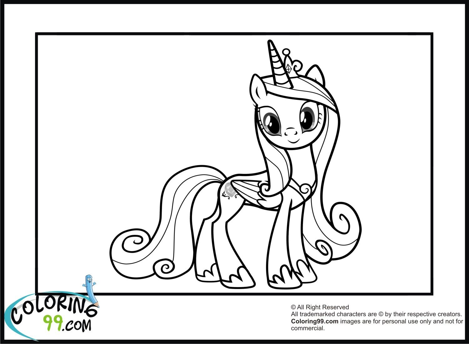 Coloring pages of princess cadence - Mlp Printable Coloring Pages Princess Cadence Coloring Pages Coloring99 Com
