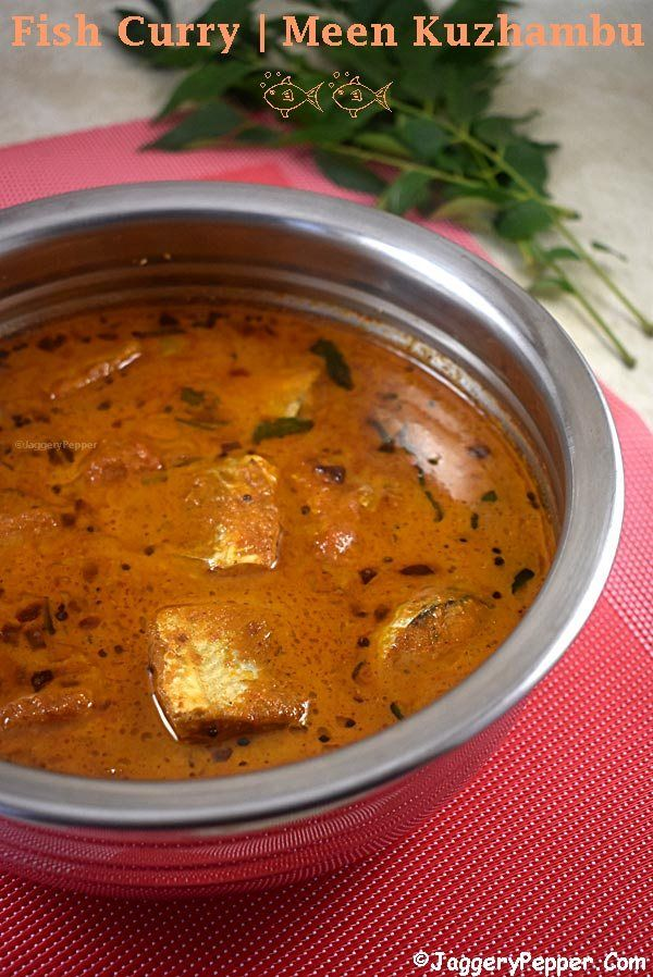 South Indian Fish Curry Recipe Fish Curry Recipe Fish Recipes Fish Curry