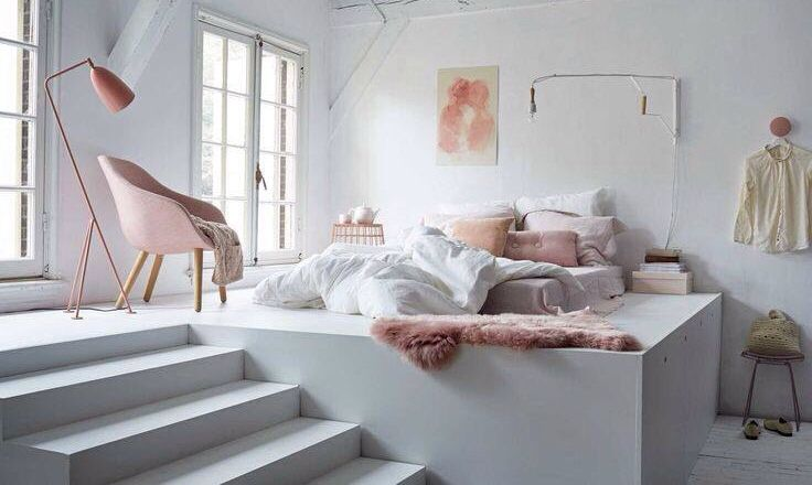 Elevated, bedroom, white