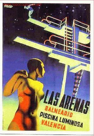 Uno de mis carteles favoritos es este de Renau para la Playa de las Arenas, de los años 30