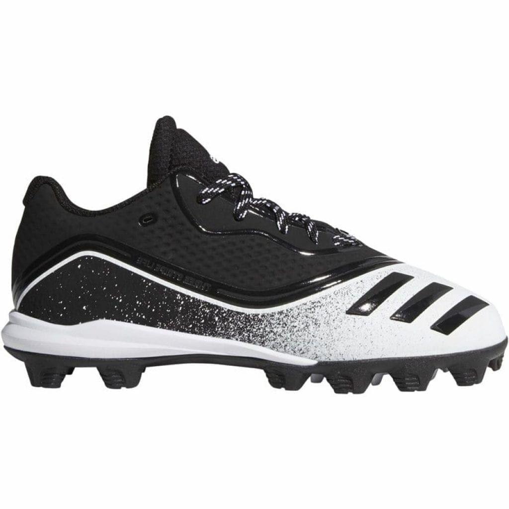 adidas Boys' Icon V Mid Baseball Cleats Black, 13 Youth