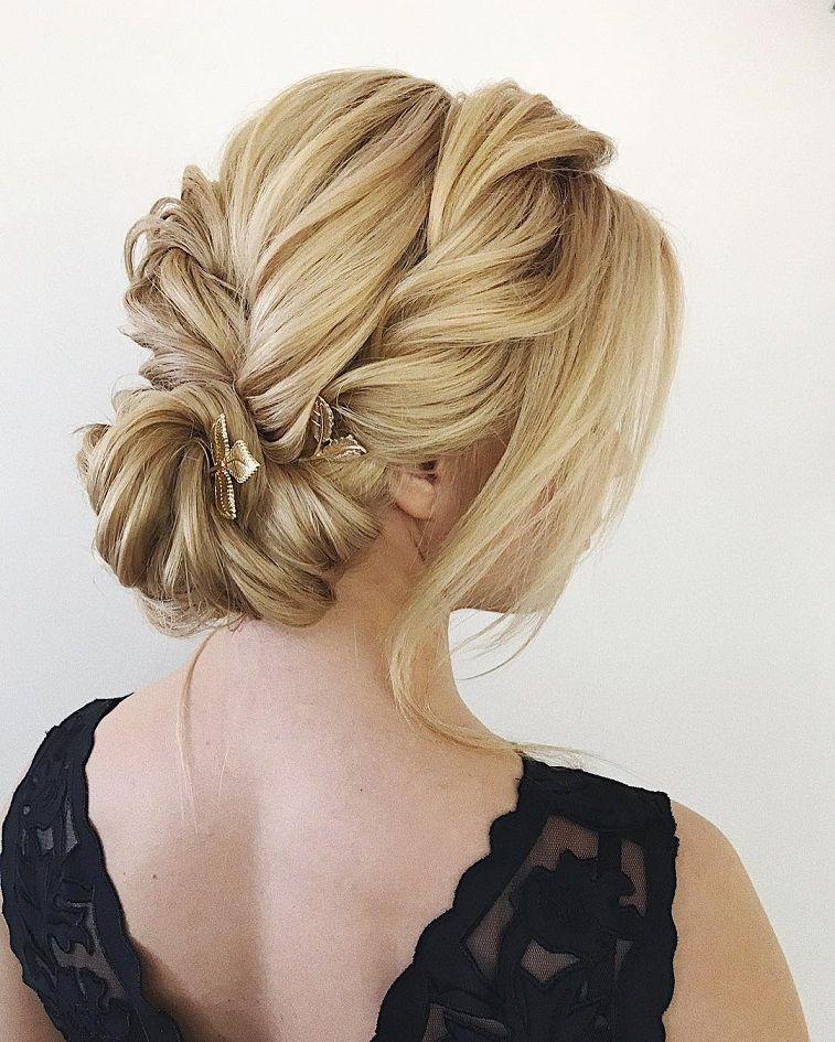 side rolled up wedding updos for medium length hair,wedding updos,updo hairstyles,prom hairstyles #updos #hairstyles #bridehair #weddinghairstyles