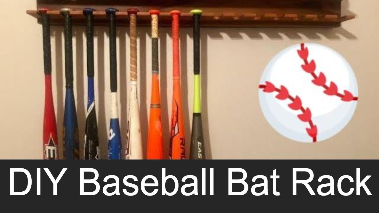 Diy Baseball Bat Ball Glove Wall Mounted Display Rack Baseball
