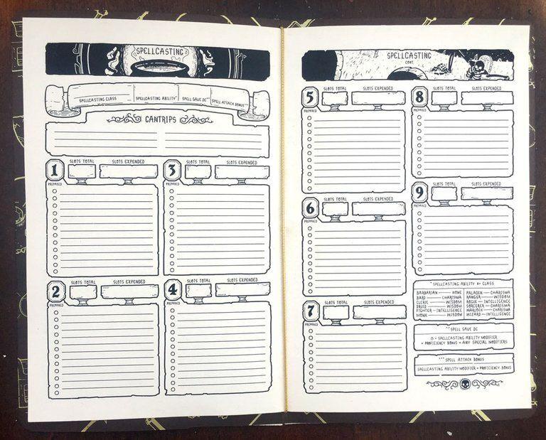 Character book 5e dnd character sheet character sheet