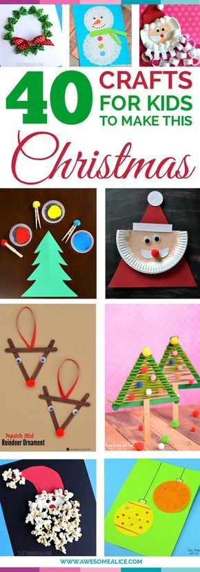 Top 40 Easy And Fun Christmas Crafts For Kids to Make Santa crafts