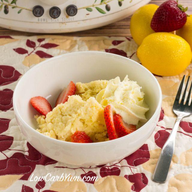Lemon Crock Pot Cake