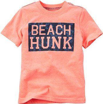 ed96cd7b Amazon.com: Carters Toddler Boys Beach Hunk T-Shirt: Clothing ...