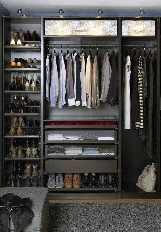 Exceptionnel Mens Dark Grey Organized Closet Ideas