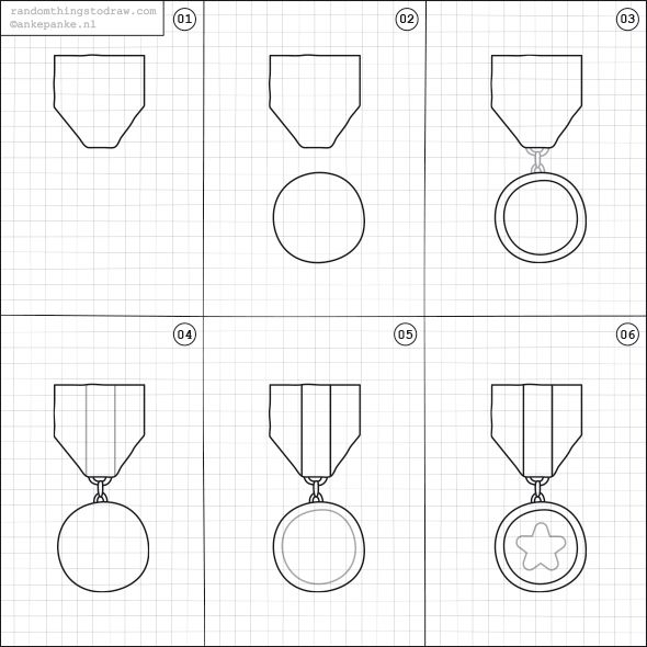 How to draw a medal doodling pinterest fun things for How to sketch easy things