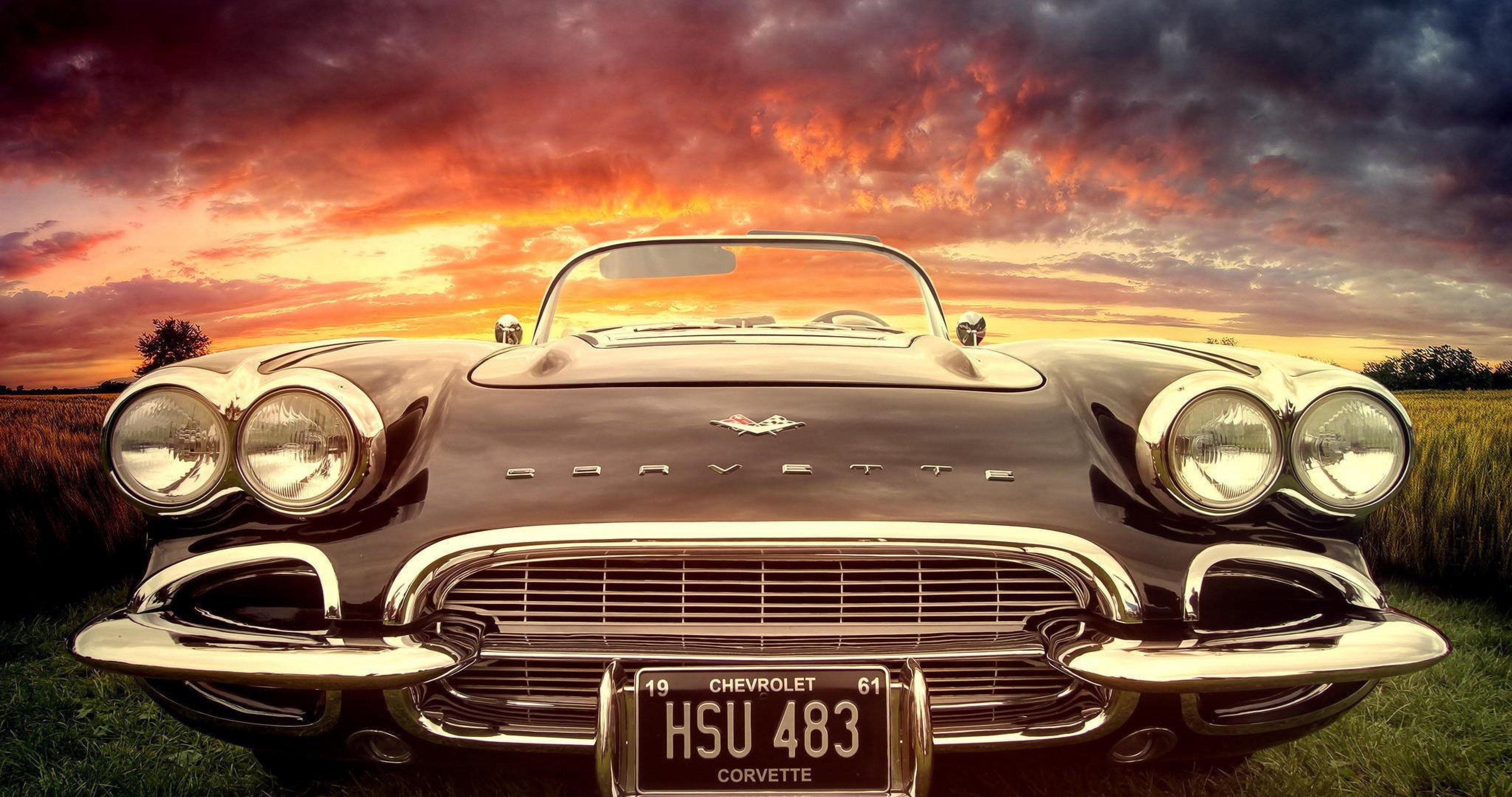 Chevrolet Classic Chrome 4k Ultra Hd Wallpaper Classic Corvette Vintage Corvette Mans World