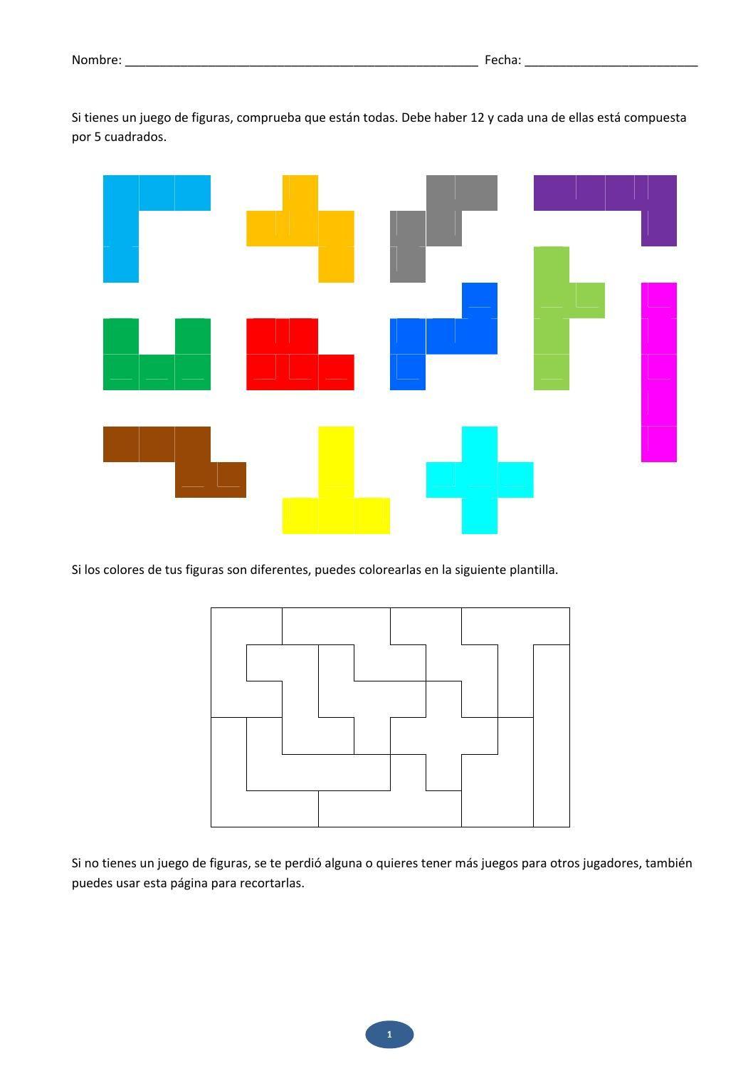 Matematicas Con Pentaminos Aula Pinterest Preescolar Ninos Y