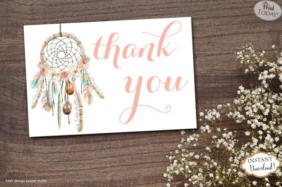 floral teal and coral thank you card teal and coral thank you cards INSTANT DOWNLOAD Printable thank you cards