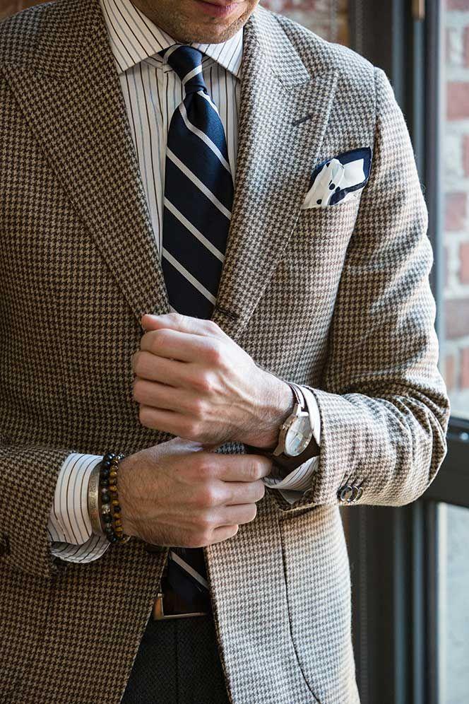 e26726e87af5 How To Wear a Houndstooth Blazer   Houndstooth   Blazer outfits men ...