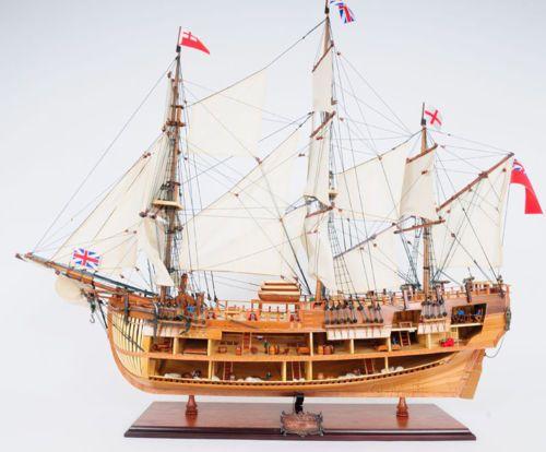 HMS-Bark-Endeavour-Explorer-James-Cooks-Open-Hull-37-Wooden-Tall