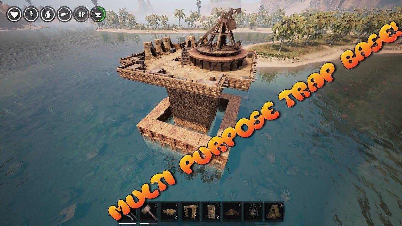 Hidden Base With Trap Base Design Conan Exiles   Trap Base Designs